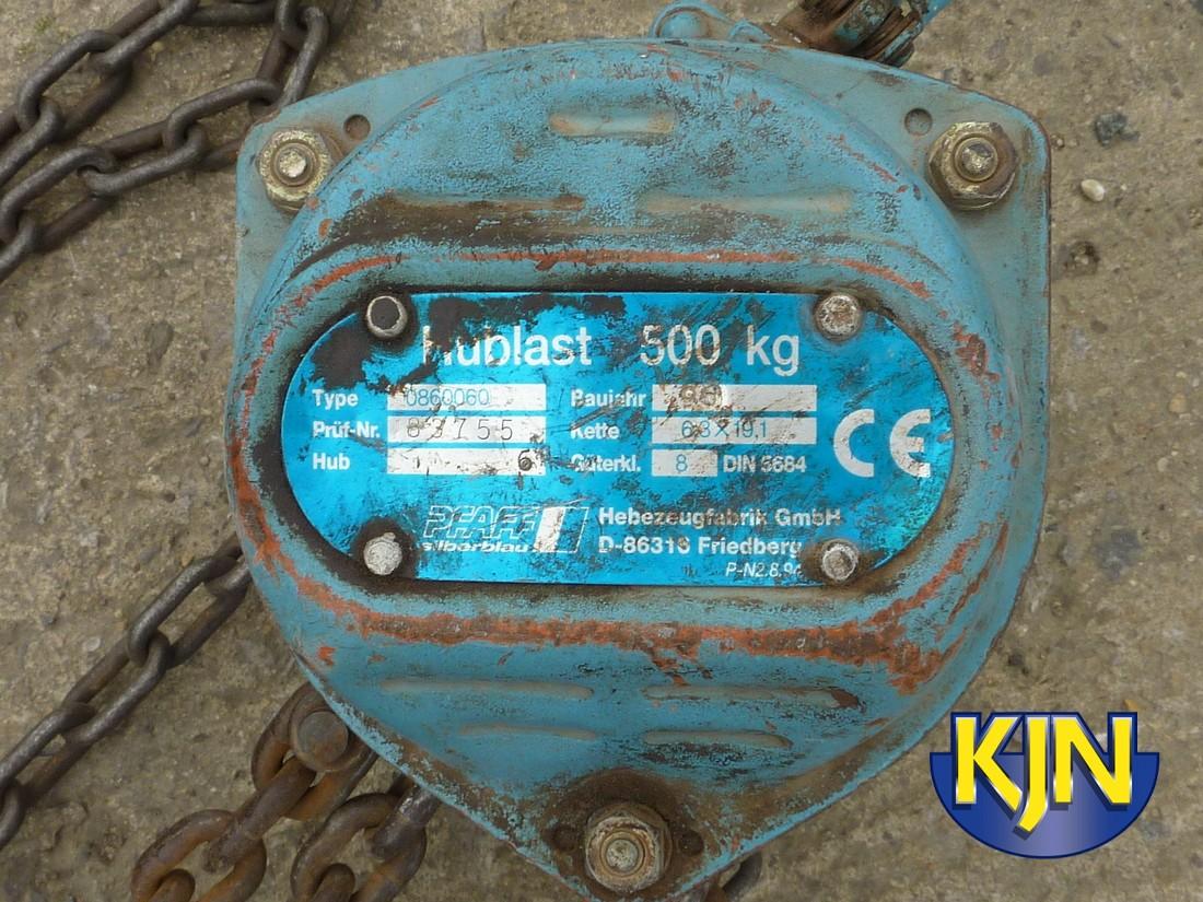 Chain Block 500kg SWL 6m Lift