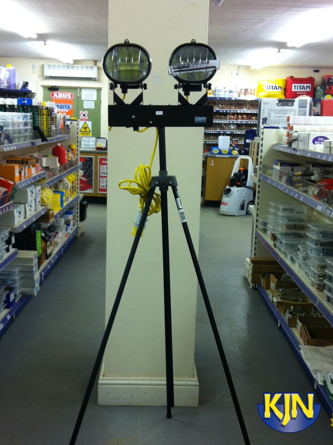 Floodlight Twin Head 2 x 500w tripod