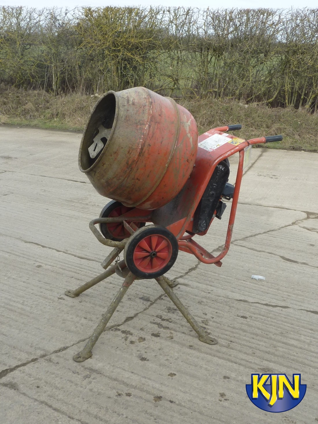 Petrol Tip Up Mixer with Stand