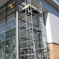 2.5m x 1.5m Base (Double Span) Scaffold Tower Maximum Platform Height 7.7m